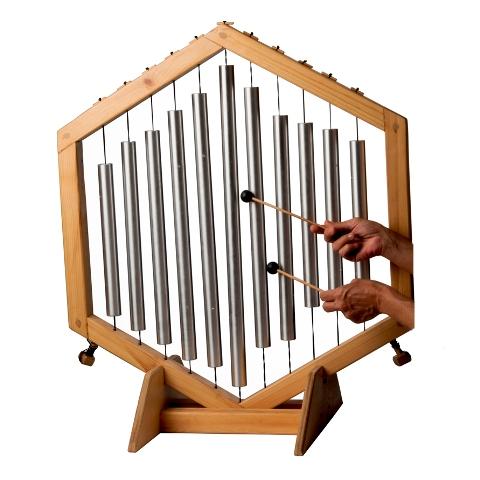 Musical bell harp