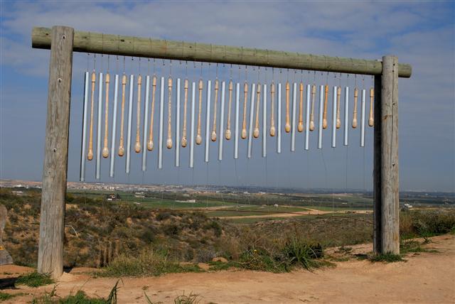 big tuned wind chimes